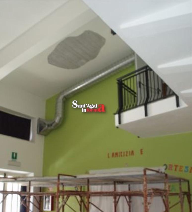 San fratello si stacca intonaco dal soffitto della scuola - Spessore intonaco interno ...
