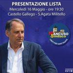 """Lista """"Bruno Mancuso Sindaco"""", la presentazione il 16 maggio al Castello Gallego"""