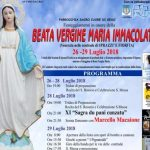 Nel vivo la festa a Sprazzì per la Beata Vergine Maria Immacolata