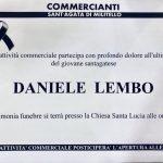 Il lutto dei commercianti per Daniele Lembo. Oggi aperture posticipate