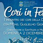 """""""Cori in festa"""". Il 2 dicembre a Sant'Agata raduno dei cori della Diocesi"""