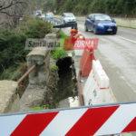 Cedimento sulla statale 113 a Rosmarino