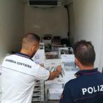 Sequestrati 160 kg di pesce in cattivo stato. Operazione congiunta Guardia Cotiera e Polizia stradale.