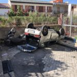 Incidente autonomo in via Mortilli, 81enne ferita