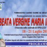 Nel weekend la festa della Beata Vergine Maria Immacolata a Sprazzì e Fiorita.