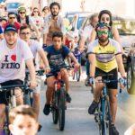 """""""Tutti in bici"""", una bella giornata nel segno dell'allegria e del rispetto per l'ambiente."""
