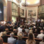 Commozione e partecipazione per l'ultimo saluto ad Eugenio Vinci.