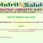 """Obesity Day 2019, incontro con specialisti ed esperti su """"Peso e Benessere""""."""