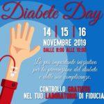 """""""Diabete day"""", dal 14 al 16 novembre controlli gratuiti."""