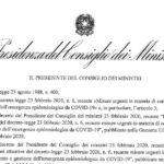 Coronavirus, limitazioni su tutto il territorio italiano. Ecco il testo del nuovo DPCM.