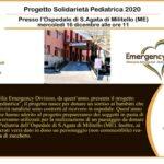"""""""Solidarietà pediatrica 2020"""", un dono per il reparto di pediatria."""