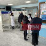 Vaccino over 80, il primo giorno di somministrazioni all'ospedale di Sant'Agata.