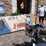 """E' approdato a Sant'Agata il """"Giro dei Tre Mari"""", storica manifestazione per gli amanti della Vespa"""